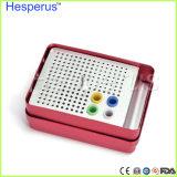 Sostenedor Endo de 180 del orificio de Hesperus ficheros de la autoclave del esterilizador de la caja de la desinfección dental dental de Burs