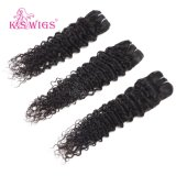 未加工Remyの毛のヘビの巻き毛の人間の毛髪