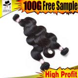 Cheveux humains de 100% dans l'onde malaisienne du corps 7A