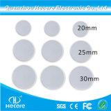 Kleine passive 13.56MHz RFID Platten-Karte der runden Form-mit kundenspezifischem Drucken