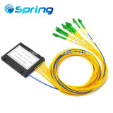Sc/APC 연결관을%s 가진 1X8 광섬유 PLC 쪼개는 도구 아BS 모듈