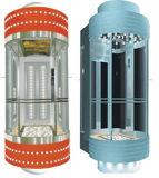 小さい機械部屋のパノラマ式のエレベーターによって使用される日本技術
