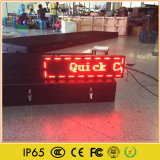 Visualización de LED Semi-Al aire libre del mensaje de publicidad que se ejecuta