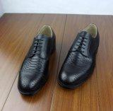 Zapatos hechos a mano importados de Goodyear del cuero de la piel de serpiente del pitón