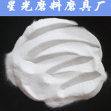 磨く白い酸化アルミニウムに砂を吹き付けること