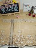 의복 & 가정 직물 & 커튼 (BS1097)를 위한 새로운 디자인 도매 20cm 폭 금 스레드 자수 Organza 레이스 메시 레이스