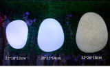Lámpara solar impermeable de la bola del césped de la batería que brilla intensamente recargable LED