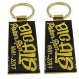 Catene chiave personalizzate dell'oro di marchio del testo del metallo