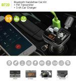 Des LED-Freisprechaufruf-drahtlose FM Karten-MP3-Player-Musik USB-Ladung Übermittler Bluetooth des Auto-Kit/SD
