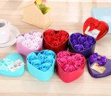 관례 온갖 꽃 선물 상자, 결혼 선물, 결혼식 훈장 로즈 비누 (YB sp 460)