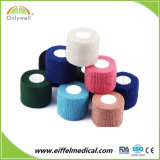 セリウム及びISOの公認の医学の使い捨て可能な着色された凝集の伸縮性がある付着力の包帯