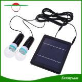 E27 Juego de la base de Energía Solar Jardín de luz solar con dos bombillas LED para exteriores Patio corredor
