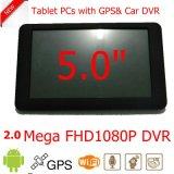 """OEM 5.0 """" mini-ordinateur de poche voiture camion Marine Navigation GPS avec Android 6.0 WiFi GPS Navgation périphérique du système ; la carte Google GPS Tracking, Tablet PC avec 5.0MEGA DVR"""