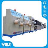 Venta caliente de nylon de la máquina extrusora de plástico reciclado de residuos de la banda de la correa que hace la máquina