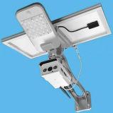 Cámara sin hilos integrada al aire libre del IP de la seguridad de WiFi de la energía solar con la luz de calle del LED