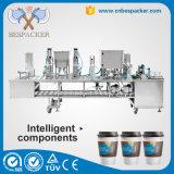 세륨을%s 가진 플라스틱 사발 컵 밀봉 충전물 기계
