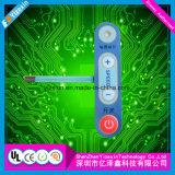 Interruttore di membrana di alta qualità con la sovrapposizione grafica per strumentazione utilizzata