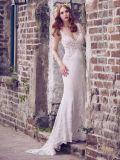 La dentelle robe de mariée robe de mariée de plage sans manches de Tulle H131012