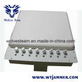 Regelbare Blocker van WiFi van de Telefoon van de Cel & de UHFStoorzender van VHF met bulit-in RichtingAntenne