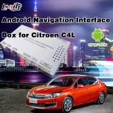 Système de navigation androïde du véhicule GPS pour Citroen C4 avec l'écran de moulage de Mirrorlink