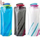 BPA libèrent la bouteille compressible de empaquetage potable de sac d'eau de plastique portatif