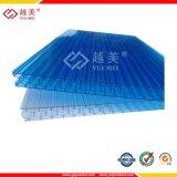 Feuille de polycarbonate alvéolaire Multiwall Panneau Sun pour les toitures en polycarbonate