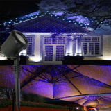 옥외 빨간 파란 이동하는 별 정원 레이저 광