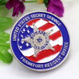 Alliage de zinc personnalisée bon marché de gros U. S. Marine Corps Pièce de souvenirs de la sécurité de la monnaie canadienne