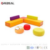 Strato modulare sezionale stabilito del sofà reale della mobilia del tessuto delle forniture di ufficio di Orizeal (OZ-OSF028)