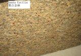 床タイルの/Slab/のカウンタートップのための磨かれたGialloサンタセシリアの花こう岩の黄色の花こう岩