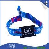 Wristbands impresos poliester de encargo de la tela del festival de música para el acontecimiento
