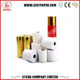 Papier thermosensible de position du blanc élevé 65GSM 80*80mm