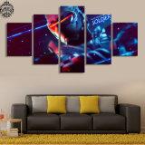 El arte moderno de la pared que pinta 5 la decoración del hogar del cartel del juego del soldado 76 de Overwatch del panel para la lona de la sala de estar impresa representa las ilustraciones