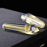 Tubulação de fumo material natural de fumo da tubulação da mão de quartzo do Smelting do amarelo da tubulação da mão