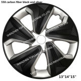 "13""14""15"" Llantas de fibra de carbono Twin-Color Car Centre embellecedores"