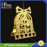 Decoración Belces del metal del ornamento 3D de la fiesta de Navidad