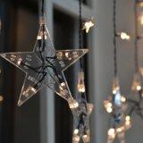 Indicatore luminoso caldo della tenda della stella dell'indicatore luminoso della stringa di bianco LED del partito romantico del creatore