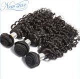 Arrvialの卸し売りインドの深い波のRemyの新しいバージンの実質の人間の毛髪