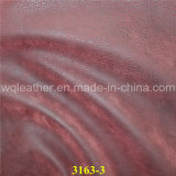La mode de nouveaux produits en cuir nubuck gaufré PU synthétique