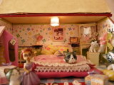 [ديي] خشبيّة [دولّ هووس] [فورنيتثرس] منزل يعيش غرفة مع تربيّة لعب