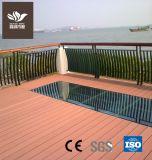 O plástico no exterior em deck WPC pisos de madeira