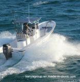 Barcos de pesca do barco do Panga da pesca da fibra de vidro de Liya 25FT com motor