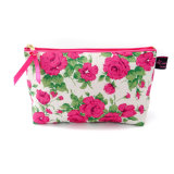 Beau sac cosmétique de rose chaud de Mitsi de tissu (BDY-1709028)