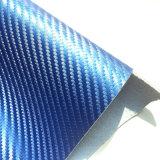 leer van Microfiber van de Koolstof van 1.4mm het Blauwe voor de Hoge Dekking van de Zetel van de Auto van het Eind