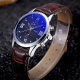 H384 обладает уникальным дизайном водонепроницаемый мужчин смотреть из синего стекла кварцевые часы для мужчин