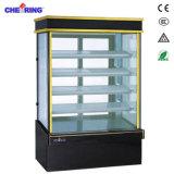 Bolo de Exibição de seis lados vertical vitrina frigorífica
