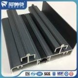 Profil en aluminium de poudre de surface grise foncée d'enduit pour le longeron /Track de guichet