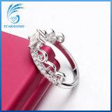 1 de Prinses van het karaat sneed de Witte Ring van de Manier van de Stenen van Moissanite van de Kleur Zilveren