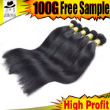 Человеческие волосы большого части волос прямого естественного цвета бразильские