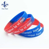 Wristbands del silicone impressi abitudine di gomma dei braccialetti di modo